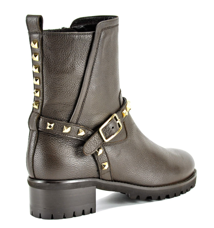 Mickey-Leather-Studded-Lug-Bootie-36-5-Brown-2