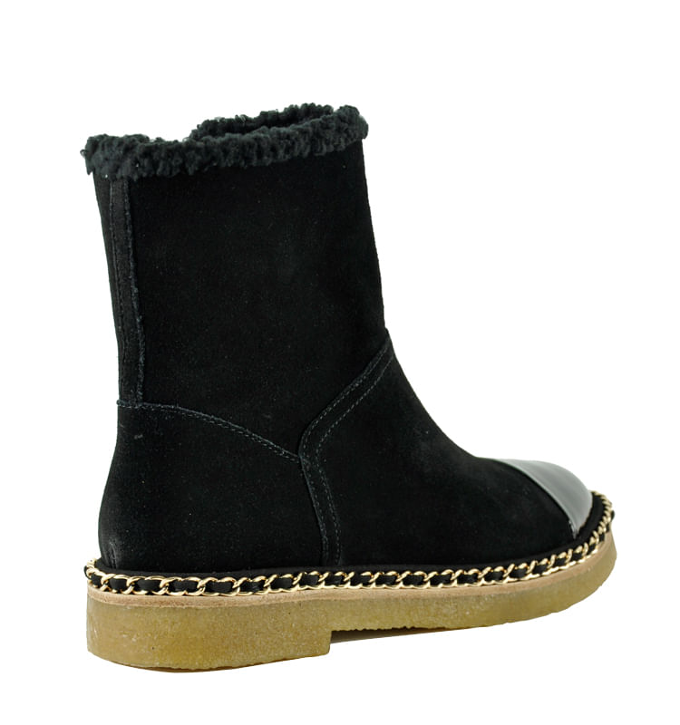 Kendal-Suede-Fur-Chain-Bootie-5-5-Black-2