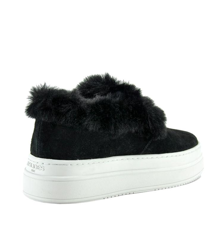 Neel-Suede-Fur-Slip-On-Sneaker-6-Black-2
