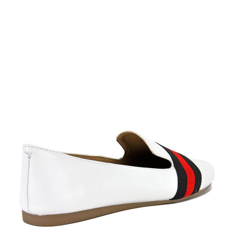 Nema-Suede-Multi-Stripe-Flat-5-5-White-2