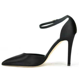 2-Piece-Shoe-SatinTapered-Toe-Pump-36-5-Black-3