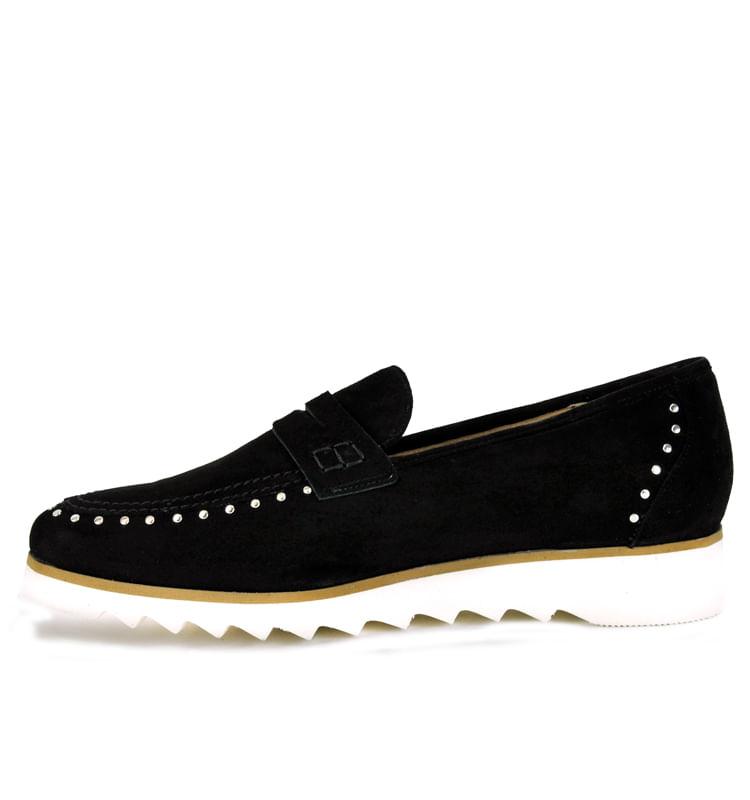 825-Suede-Flat-Loafer-35-5-Black-3