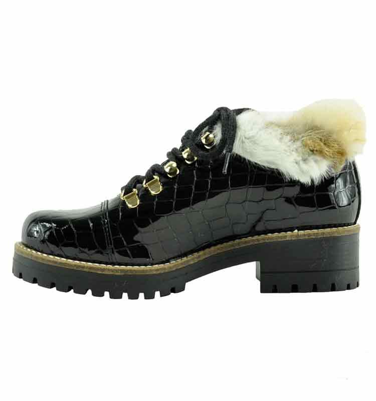 Ekka-Croc-Leather-Fur-Lug-Bootie-36-Black-3