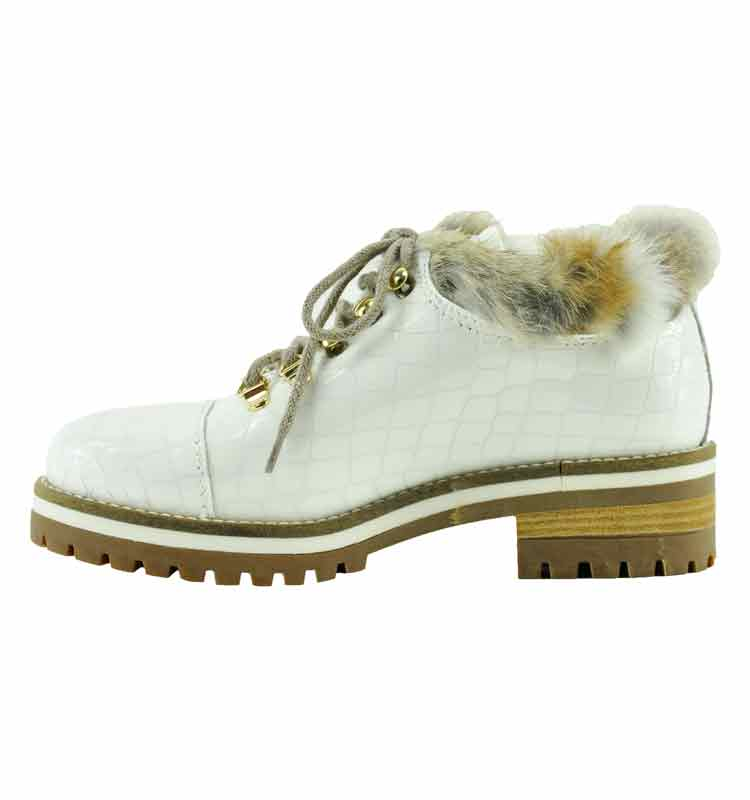 Ekka-Croc-Leather-Fur-Lug-Bootie-36-White-3