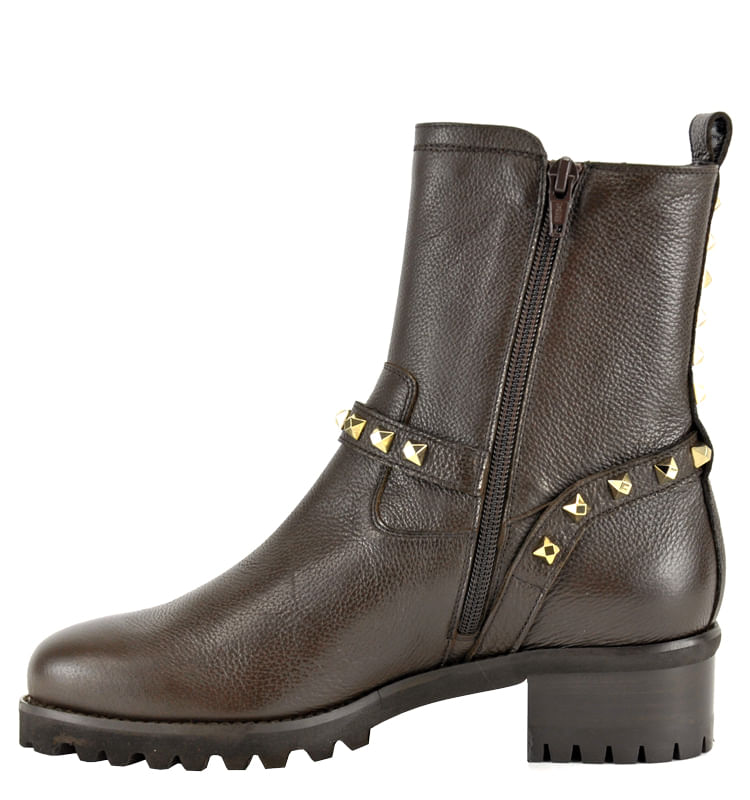 Mickey-Leather-Studded-Lug-Bootie-36-5-Brown-3