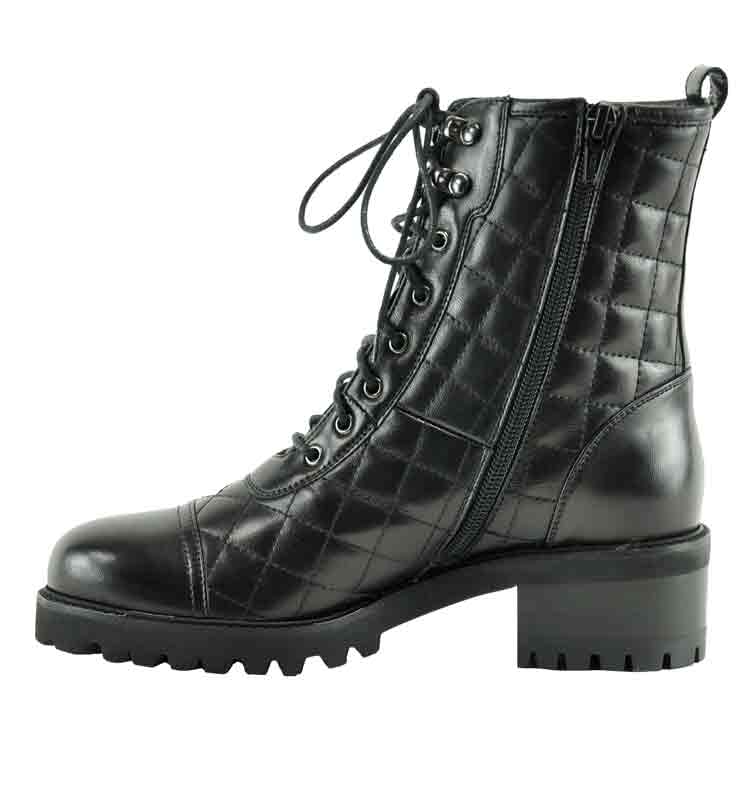 Motor-Quilted-Leather-Boot-36-5-Black-3