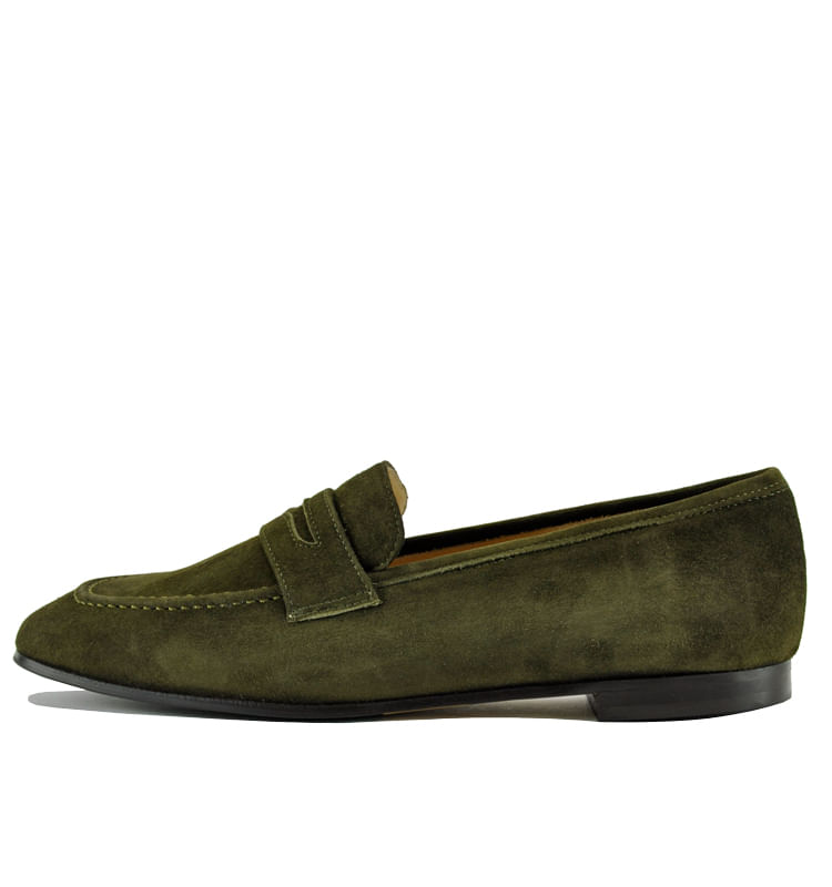 Peyton-Suede-Flat-Penny-Loafer-35-5-Olive-3