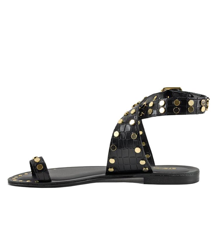 Pulock-Croc-Flat-Sandal-36-Black-3