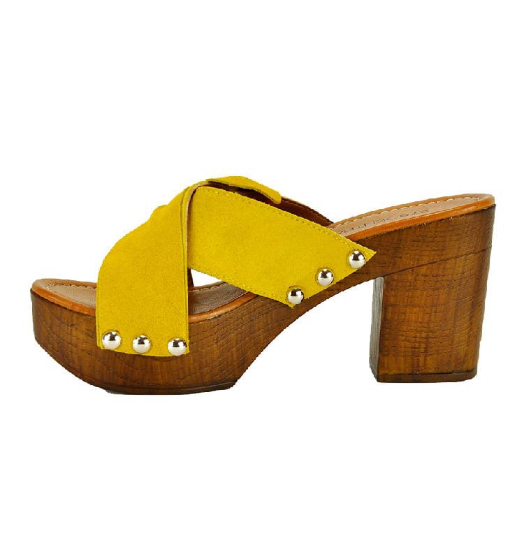 Sabrina-Suede-Wood-Heel-Slide-39-Yellow-3