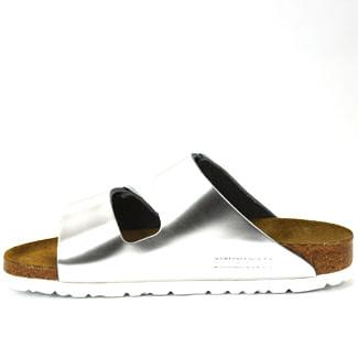 Arizona-552963-Silver-Metallic-Leather--Flat-Slide-37-Silver-3