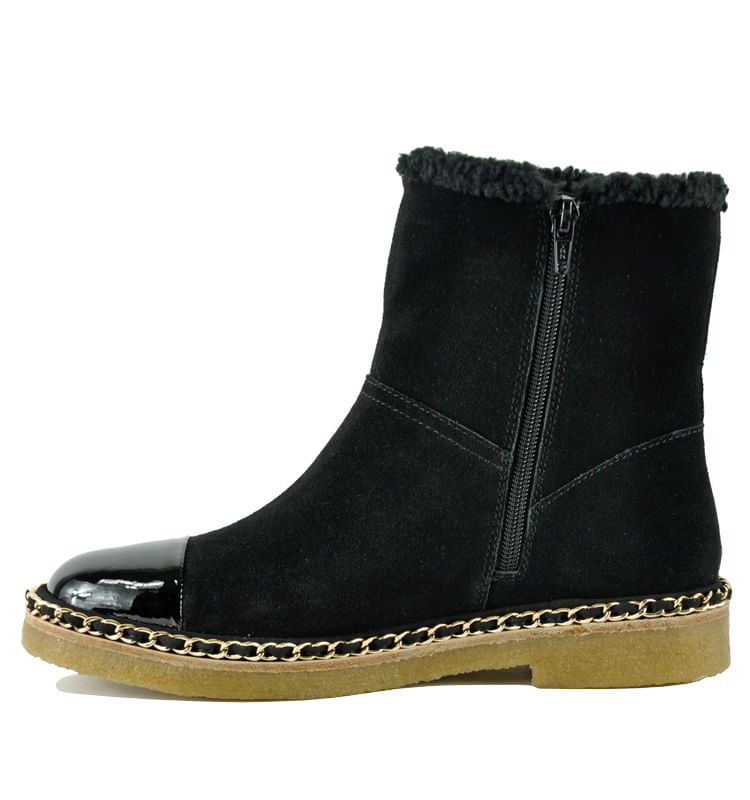Kendal-Suede-Fur-Chain-Bootie-5-5-Black-3