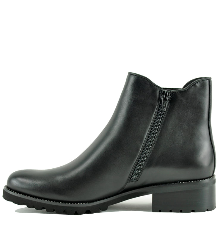 Links-Leather-Flat-Bootie-10-Black-3