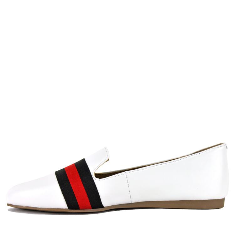 Nema-Suede-Multi-Stripe-Flat-5-5-White-3
