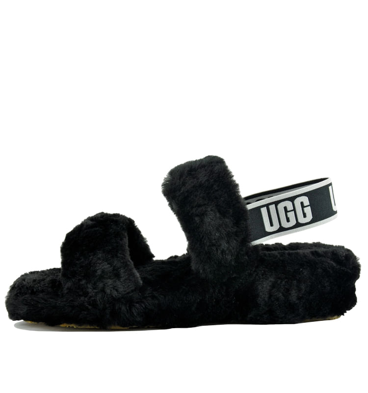 Oh-Yeah-Slide-Shearling-Double-Banded-Slide-6-Black-3