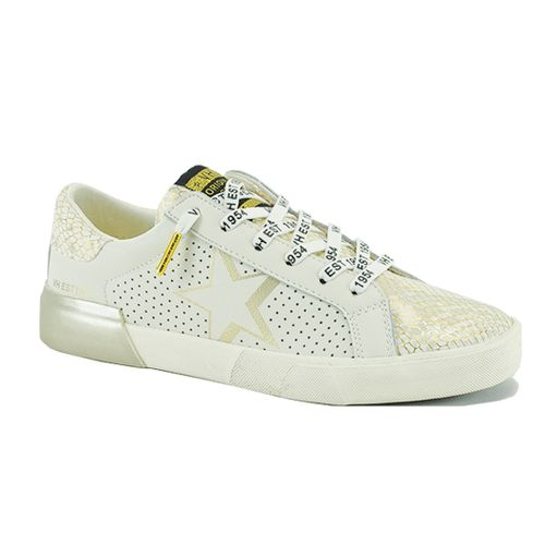 Levy Leather Snake Sneaker