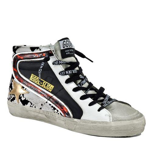 Slide Leather High Top Sneaker