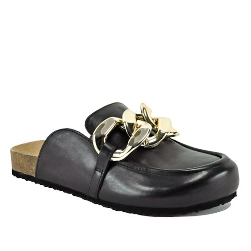 Study Leather Footbed Mule