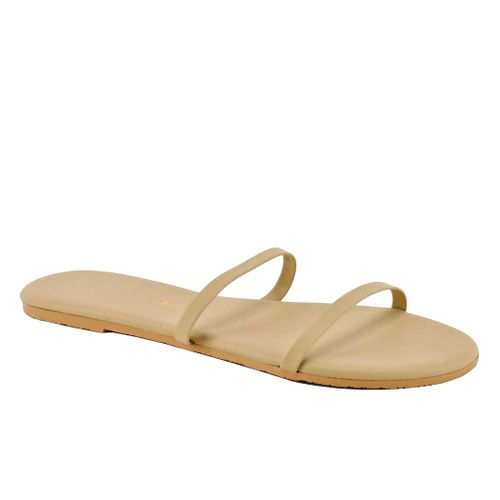 Gemma Leather Flat Slide