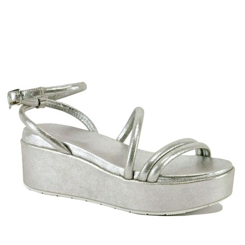 Quilt Leather Strappy Sandal