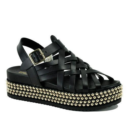 Panda Leather Platform Sandal