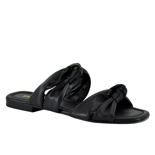 Patrick Leather Flat Slide
