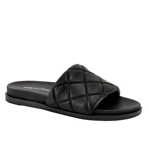 Pearl Quilted Leather Flat Slide