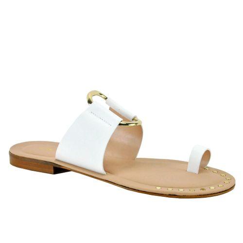Pelech Leather Flat Slide