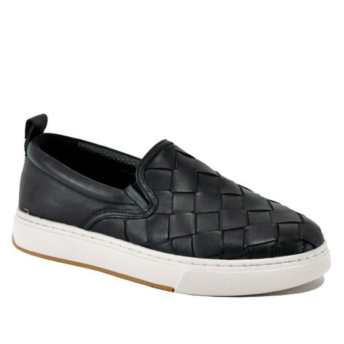 Junior Leather Woven Platform Sneaker