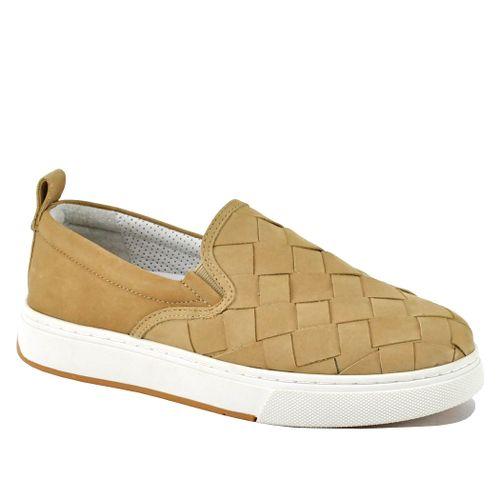 Junior Nubuck Woven Platform Sneaker