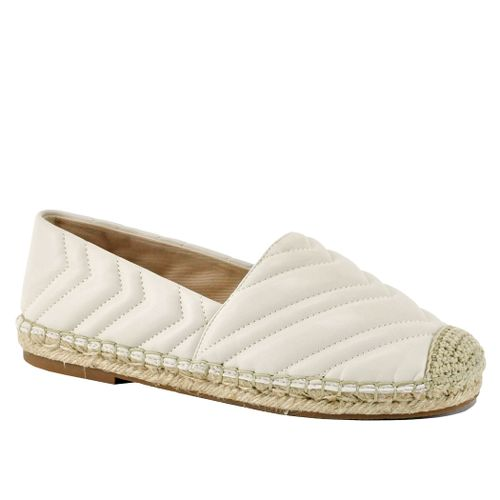 Winnow Quilted Leather Flat Espadrille