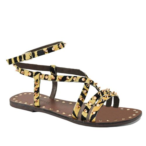 Iced Strappy Flat Sandal
