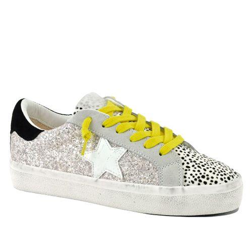 Hailey Glitter Tie Sneaker