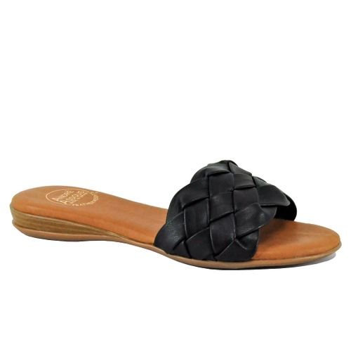Nicki Woven Leather Slide