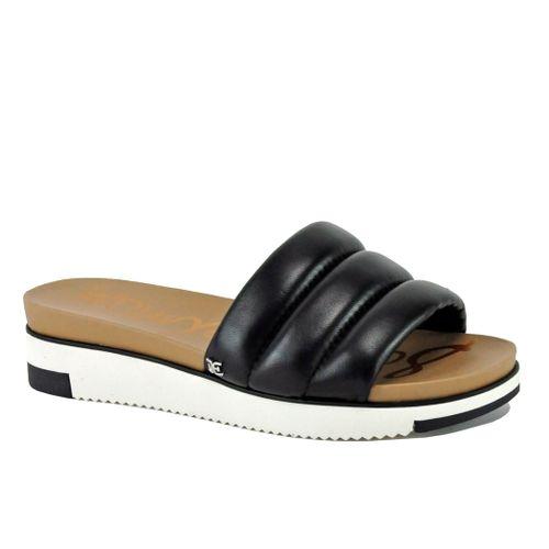 Annalisa Leather Puffy Wedge Slide