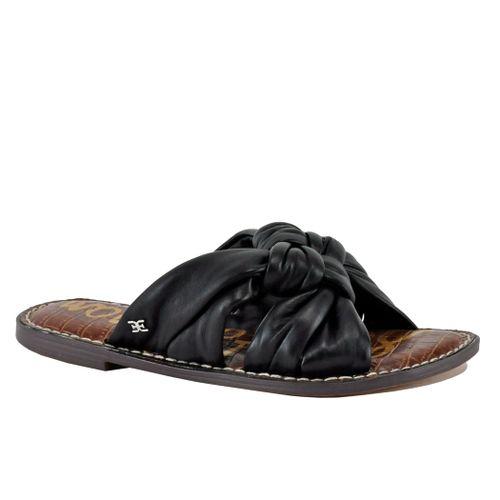 Garson Leather Knot Flat Slide