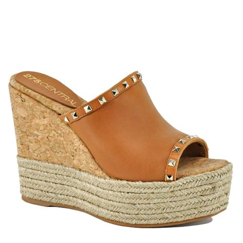 Marc Leather Studded Wedge