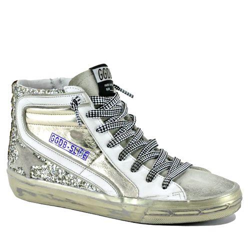 Slide-65147 Leather High Top Sneaker