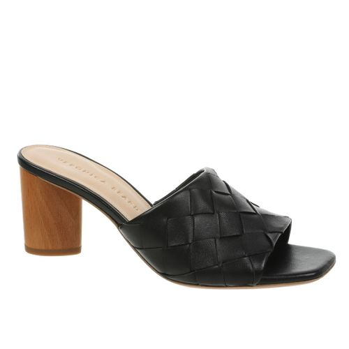 Kiele Leather Woven Slide