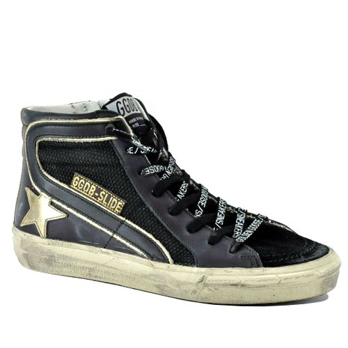Slide 90200 Leather High Top Sneaker