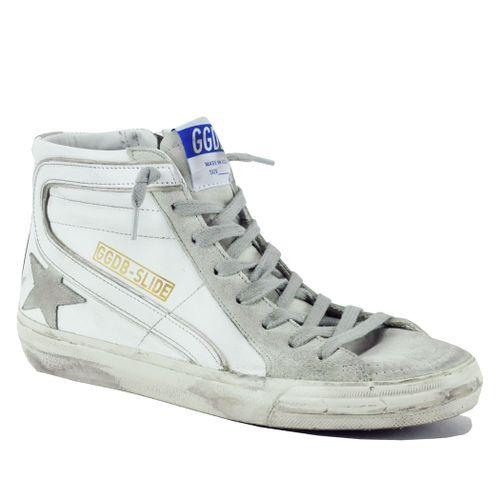 Slide-10276 Leather High Top Sneaker