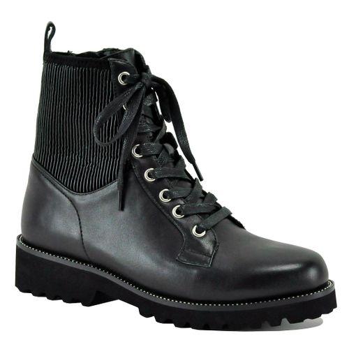 Zoe Leather Tie Boot