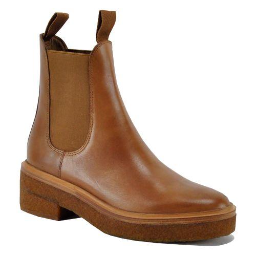 Raquel Leather Crepe Boot