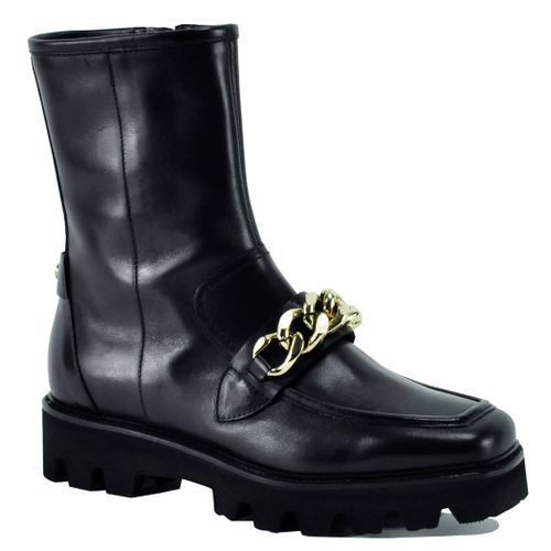 Mac Leather Chain Bootie