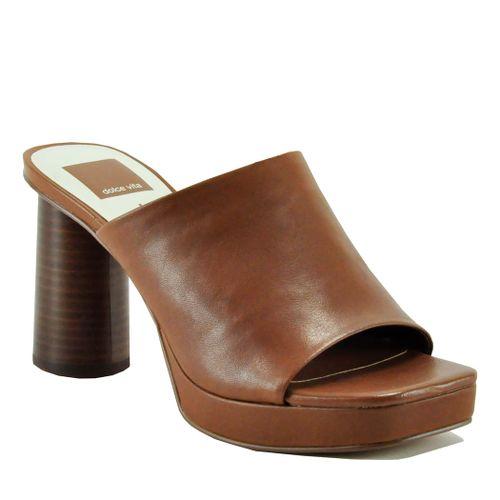 Alyssa Leather Platform Slide