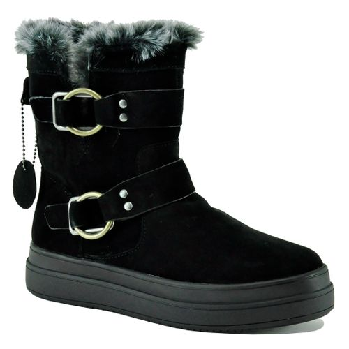 Nelly Suede Shearling Bootie