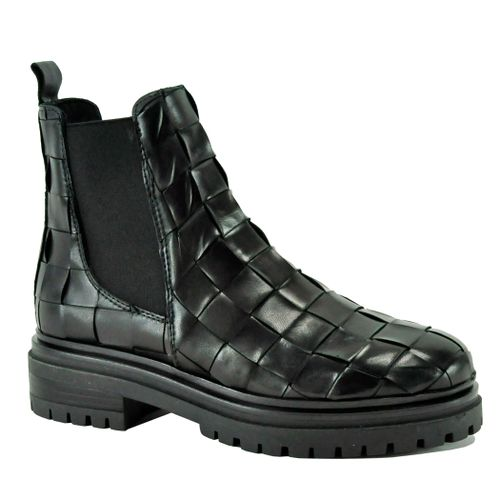Lou Woven Leather Flat Boot